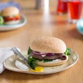 "T/S (1006) AR 5"" Burger Bun UNseeded x 48 **Frozen**"