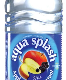 Flavoured water Bottles Aqua Splash 24 x 500ml Apple & Blackcurrant