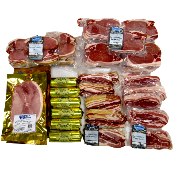 Retail Gloucester Dry Cured British Bacon, Ham and Butter Kit **ALL BRITISH**