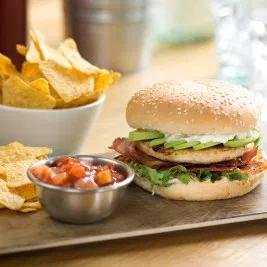 "T/S (1005) AR 5"" Burger Bun seeded x 48 **Frozen**"