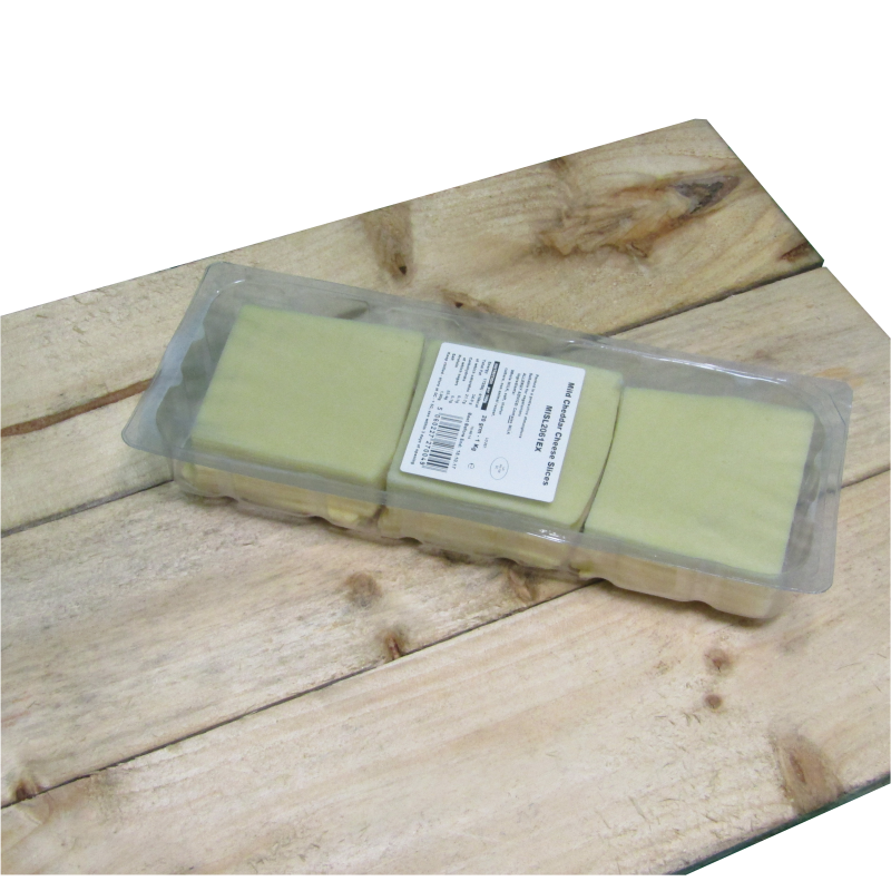 Mild Cheese Sliced 1kg (50 slices per pack approx)