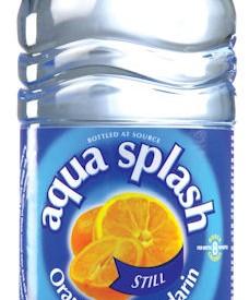 Flavoured water Bottles Aqua Splash 24 x 500ml Orange & Mandarin