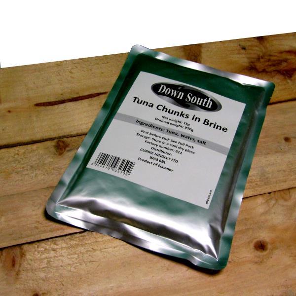 Tuna Chunks in Brine Pouch 1kg Down South