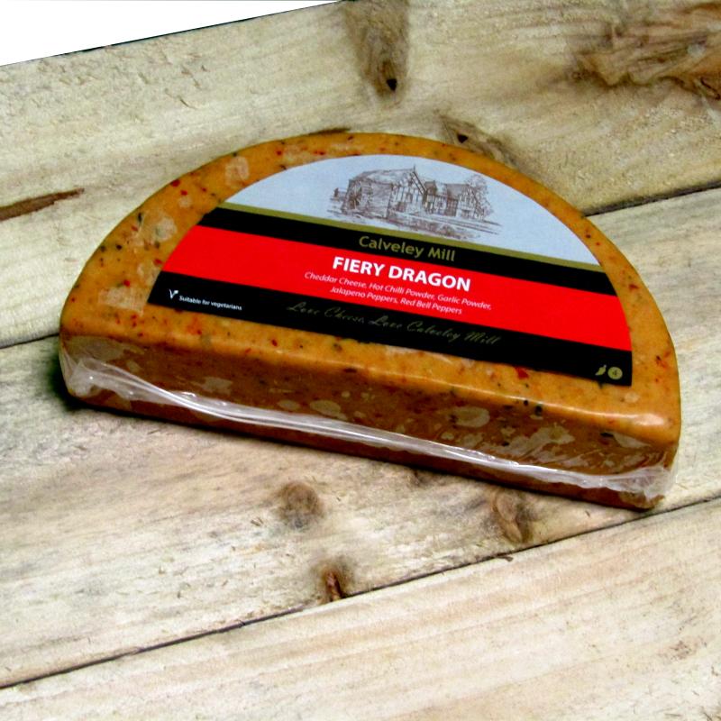 Calverley Mill Fiery Dragon Half Moon Cheese
