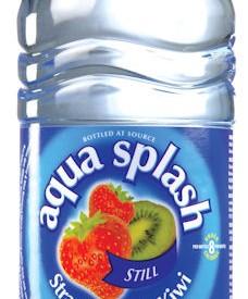 Flavoured water Bottles Aqua Splash 24 x 500ml strawberry & Kiwi