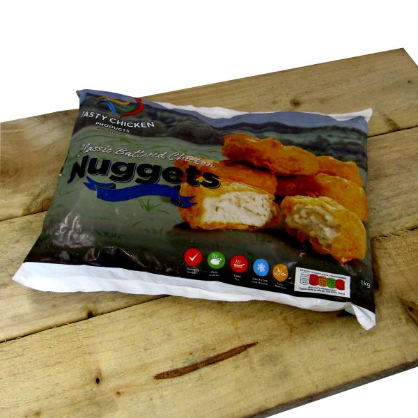 Battered Chicken Nuggets 1kg **frozen**