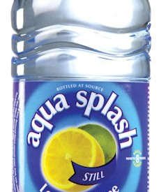 Flavoured water Bottles Aqua Splash 24 x 500ml Lemon & Lime