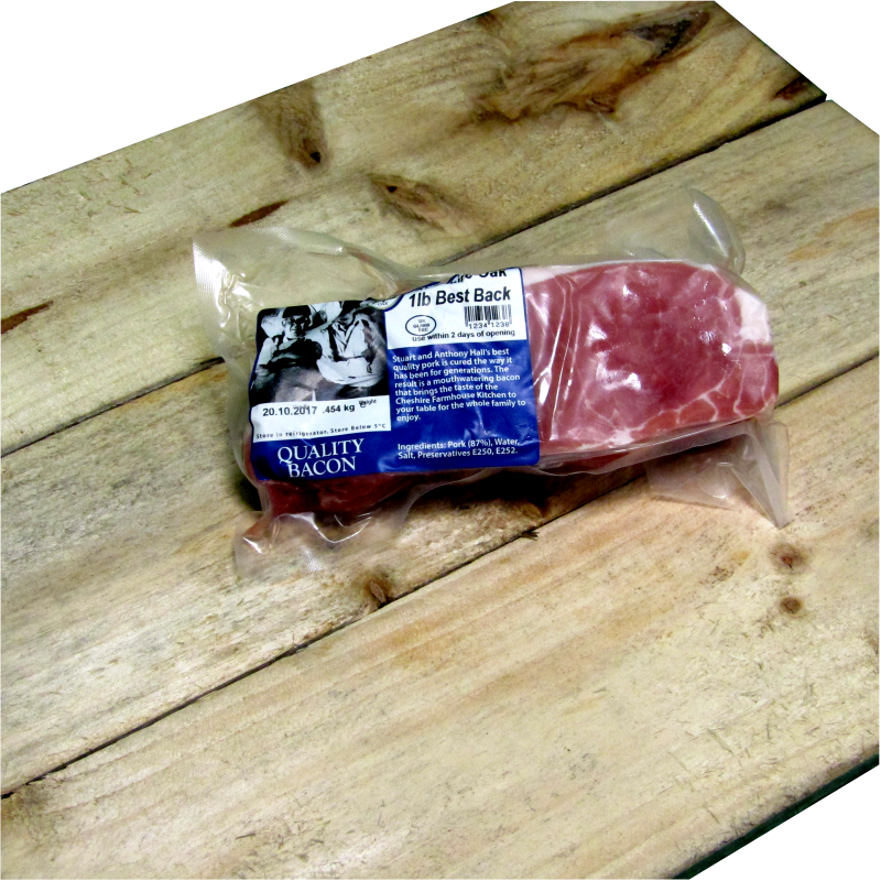 Best Cheshire Oak Back Bacon (1lb) 0.454kg
